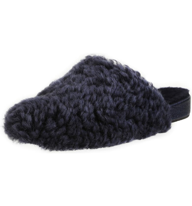 ROSS & SNOW Julia Genuine Shearling Slipper, Main, color, FROSTED INDIGO