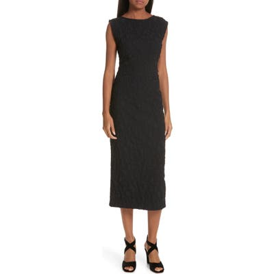 Rachel Comey Medina Floral Jacquard Sheath Dress, Black