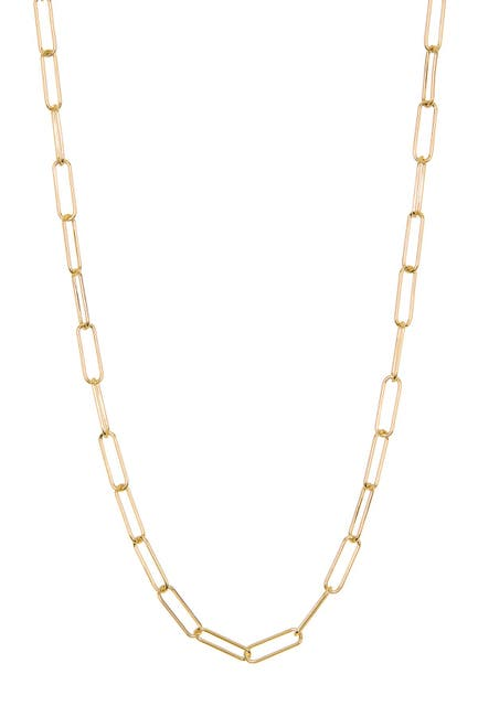 Image of ADORNIA 14K Gold Plated Sterling Silver Paper Clip Necklace