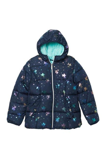 Image of Kensie Girl Iridescent Unicorn Foil Puffer Jacket