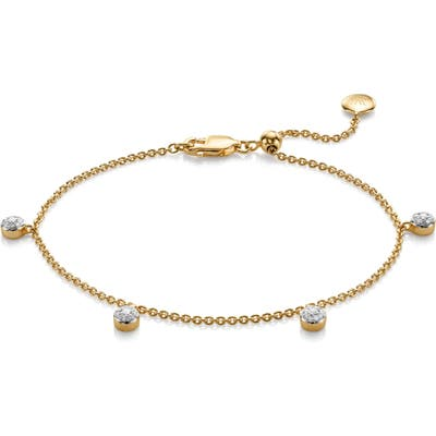 Monica Vinader Fiji Tiny Button Diamond Bracelet