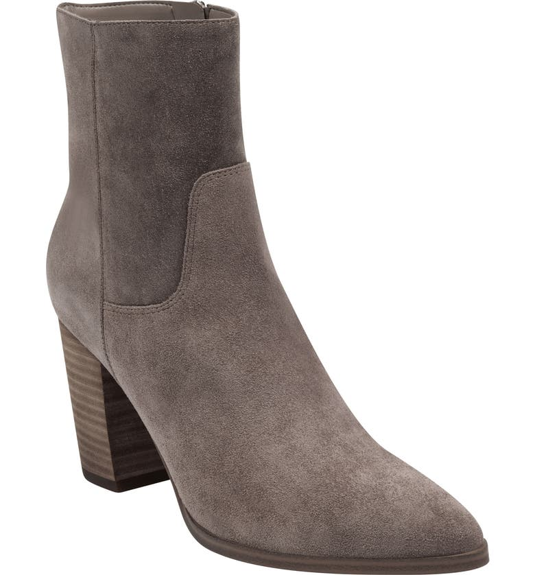 MARC FISHER LTD Giana Western Bootie, Main, color, MEDIUM NATURAL SUEDE