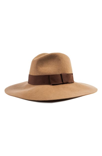 Brixton Hats 'PIPER' FLOPPY WOOL HAT - BROWN