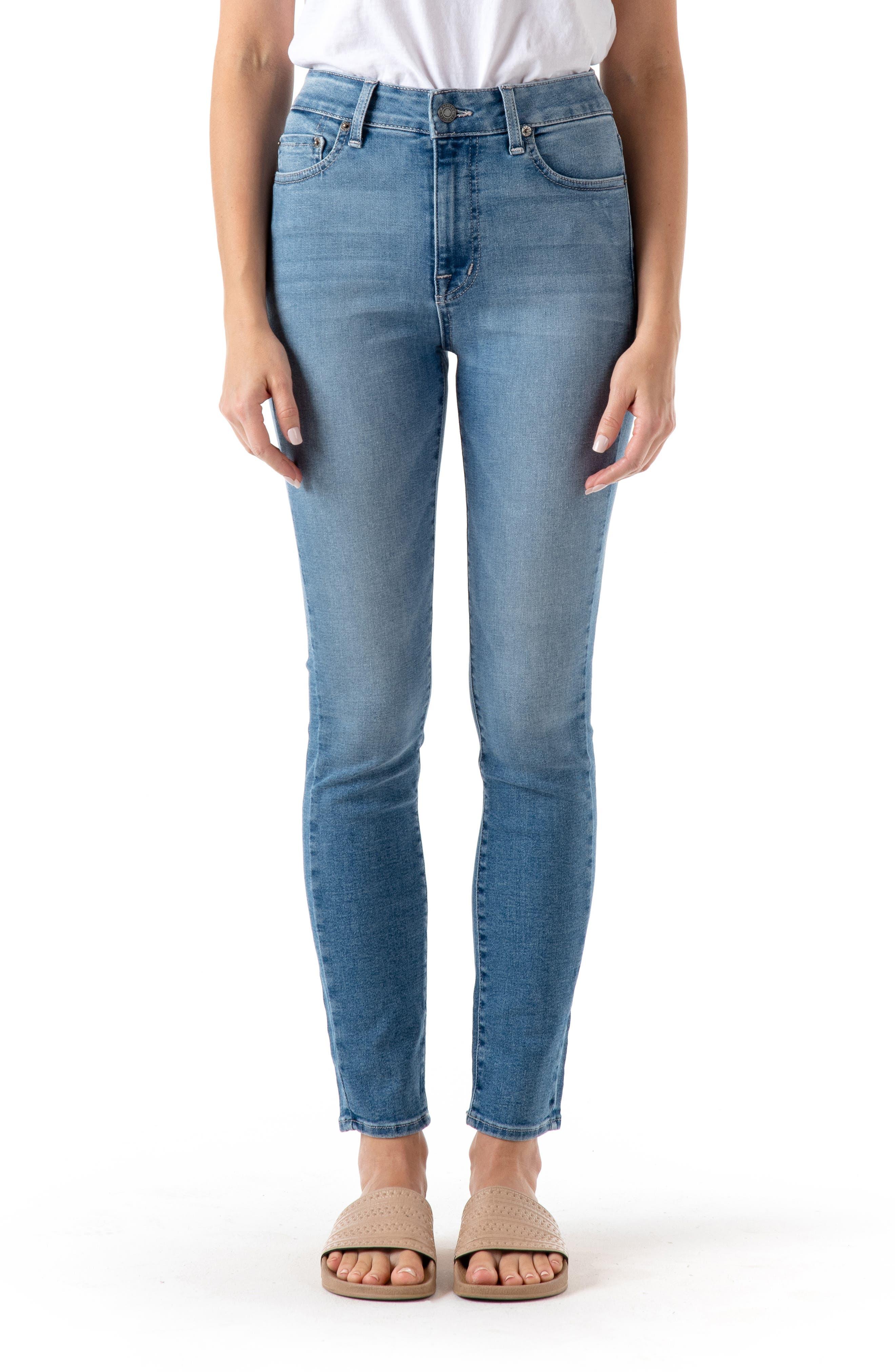Women's Modern American Soho High Waist Ankle Skinny Jeans