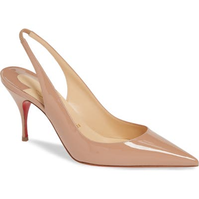 Christian Louboutin Clare Slingback Pump, Beige