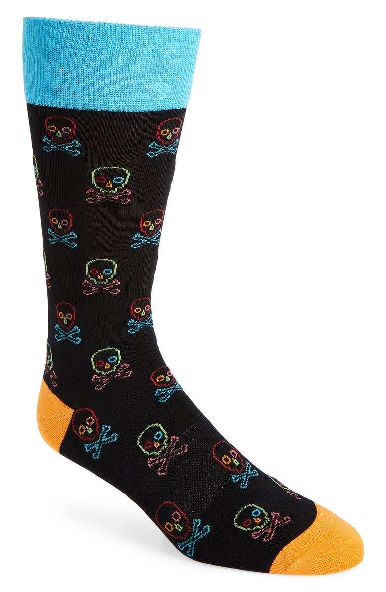 FUN SOCKS Bones Socks, Main, color, 001