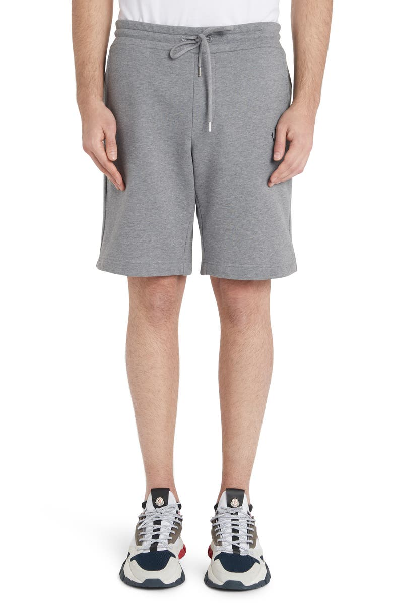 MONCLER Athletic Shorts, Main, color, CHARCOAL