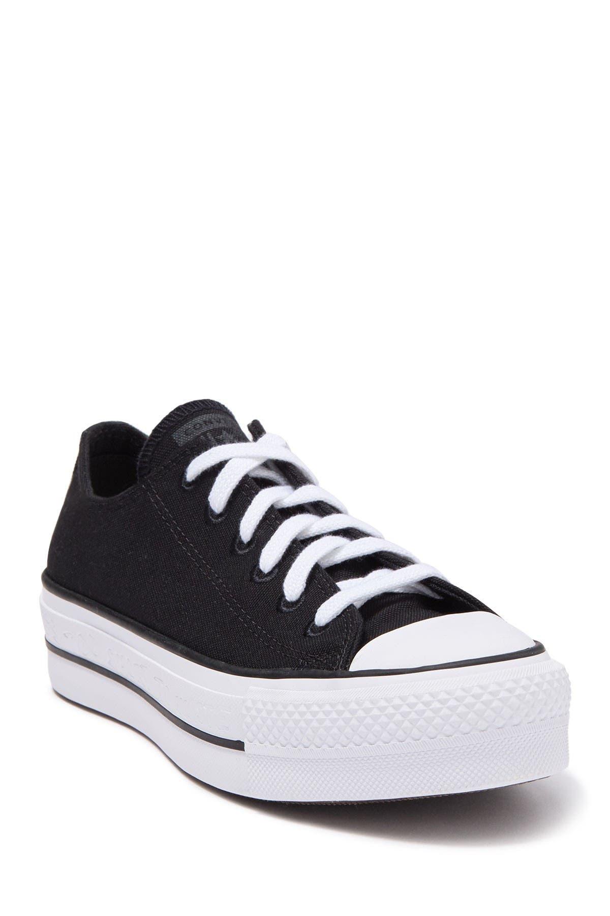 converse chuck taylor ox platform white sneakers