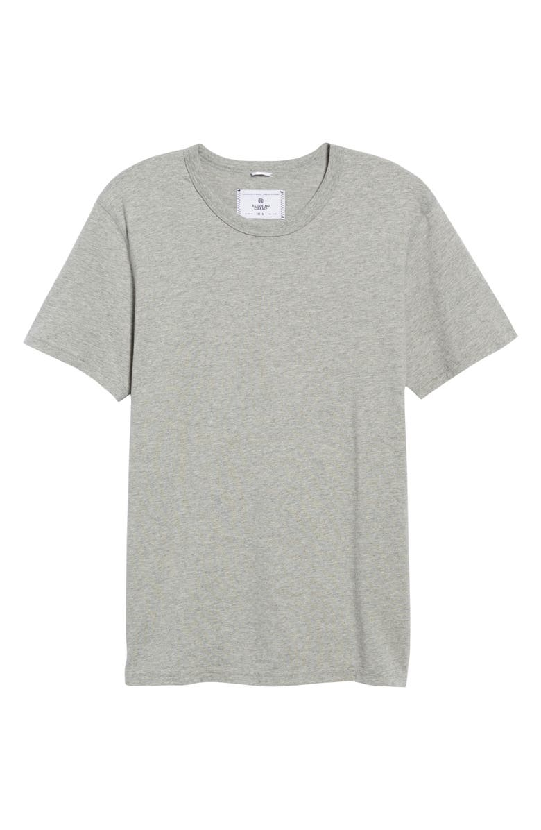 REIGNING CHAMP Short Sleeve Slim Fit Crewneck T-Shirt, Main, color, HEATHER GREY