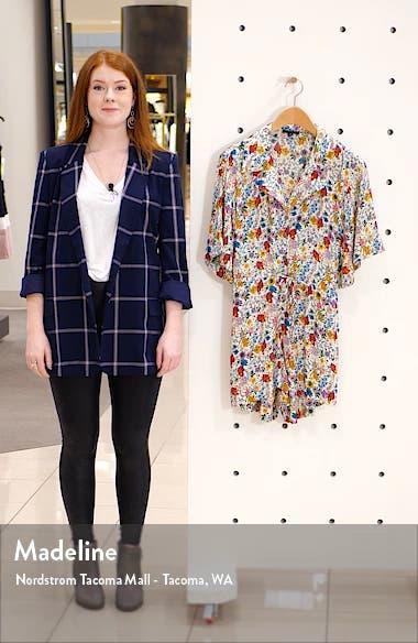 IDOL Floral Pajama Collar Romper, sales video thumbnail