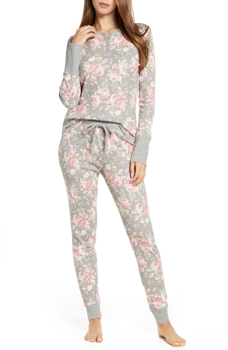 SPLENDID Print Thermal Pajamas, Main, color, 020