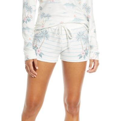 Pj Salvage Paradise Dream Stripe Pajama Shorts, Ivory