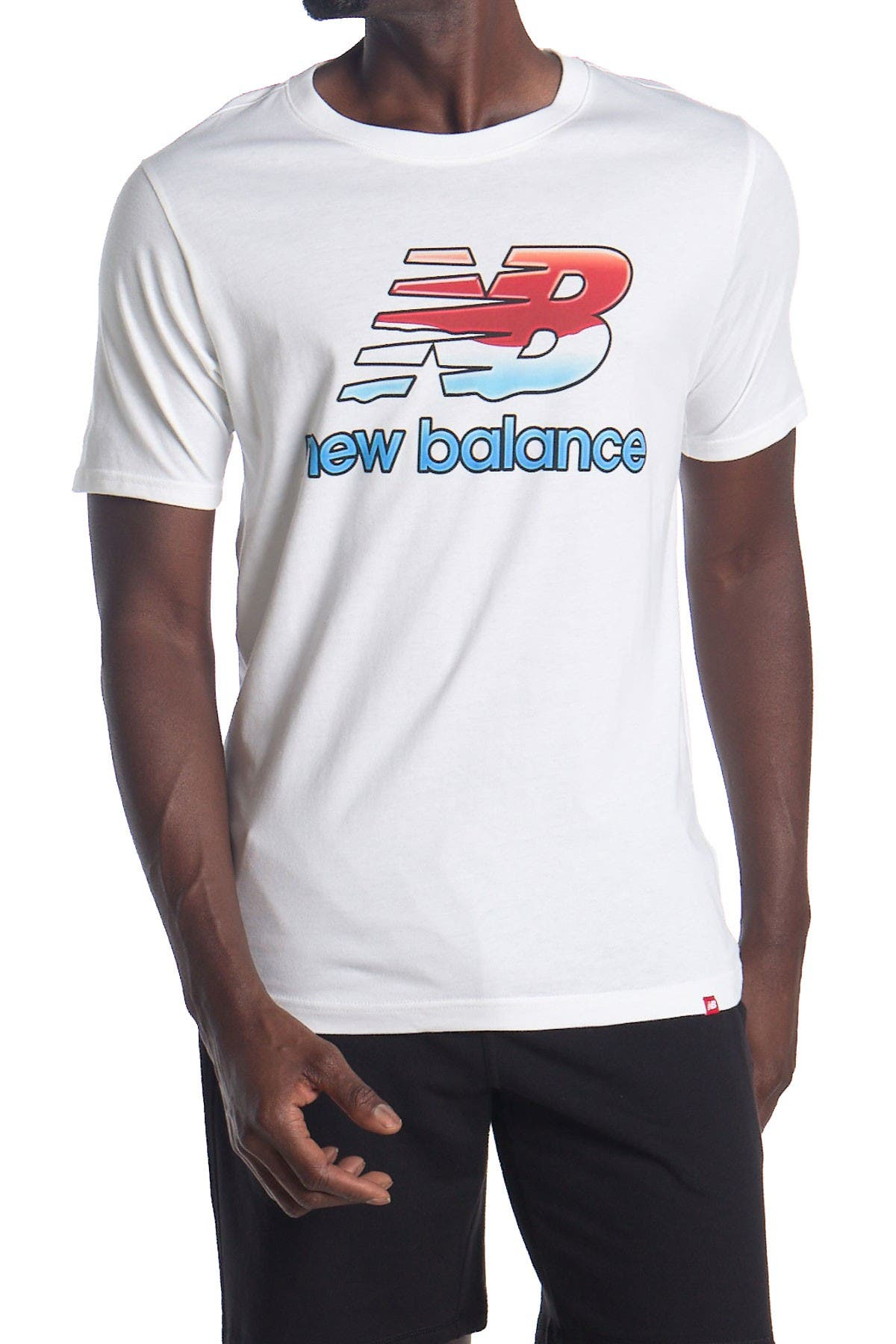 Image of New Balance Essentials Stacked Logo T- Shirt