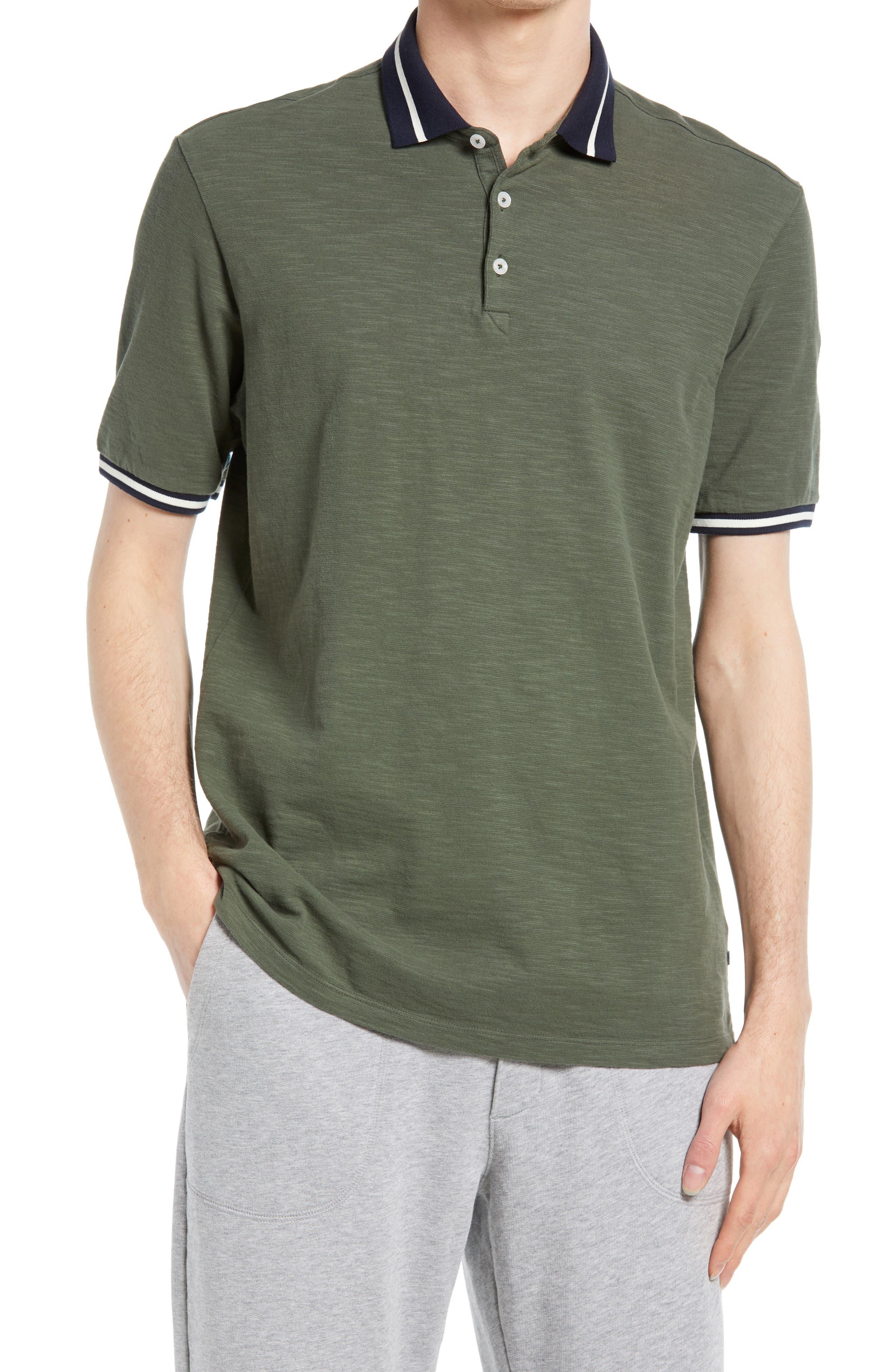 Match Point Tipped Slub Short Sleeve Polo