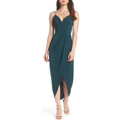Shona Joy Tulip Hem Maxi Dress, Green