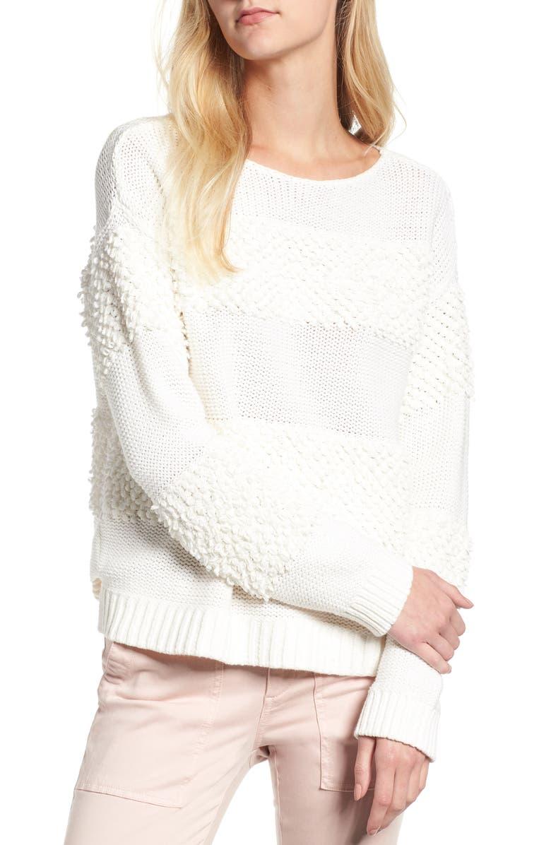LOU & GREY Loop Stripe  Sweater, Main, color, 900