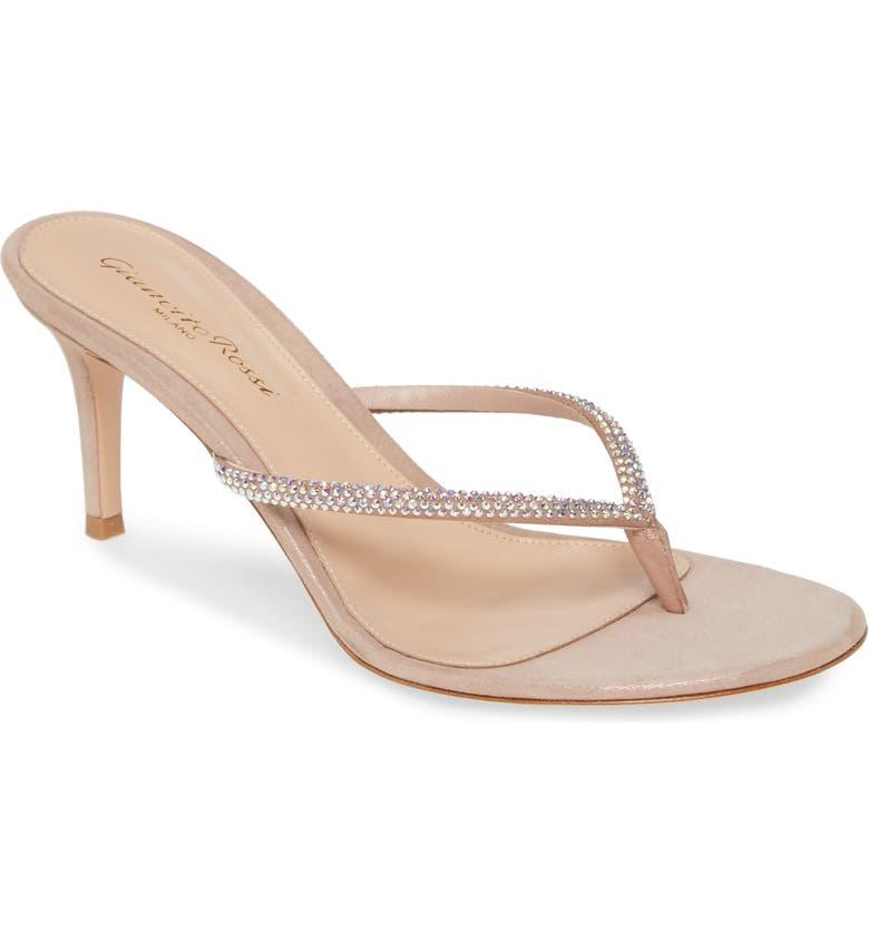 GIANVITO ROSSI Crystal Thong Sandal, Main, color, ROSA/ CRYSTAL