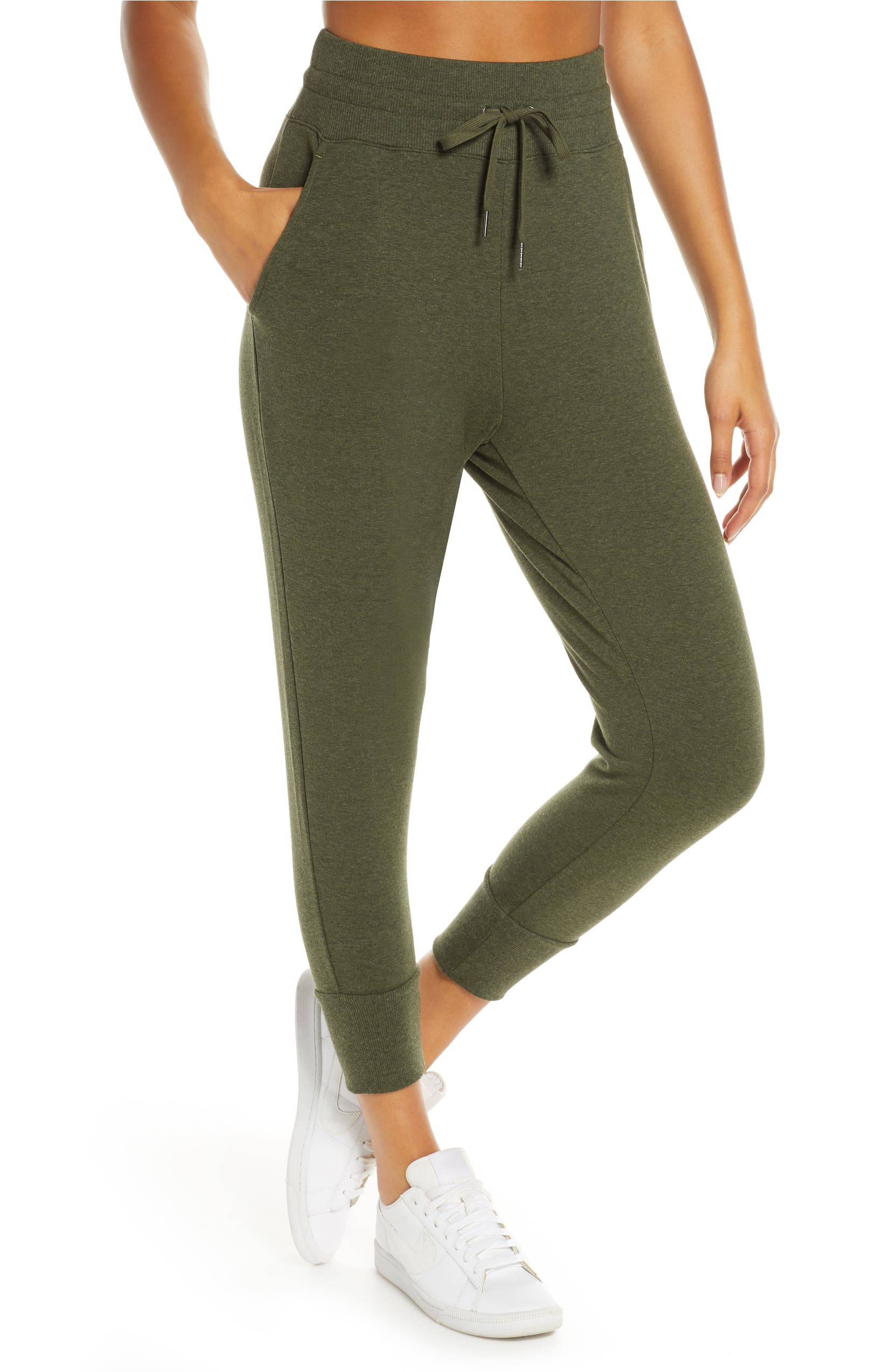 b63043f8ece1 Zella Repeat High Waist Crop Jogger Pants | Nordstrom