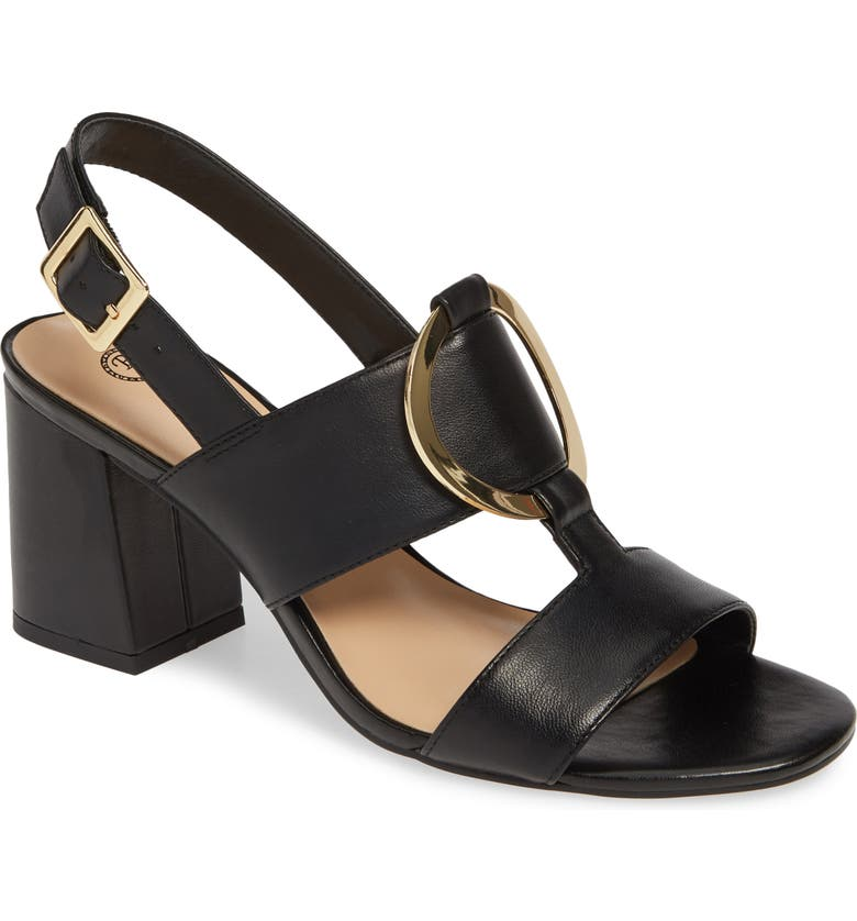 BELLA VITA Tanya Sandal, Main, color, BLACK LEATHER