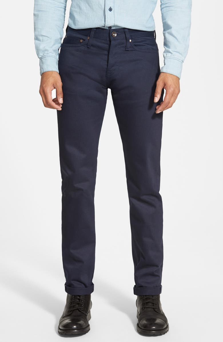 1b34a24d80 The Unbranded Brand 'UB208' Tapered Slim Fit Selvedge Chinos | Nordstrom