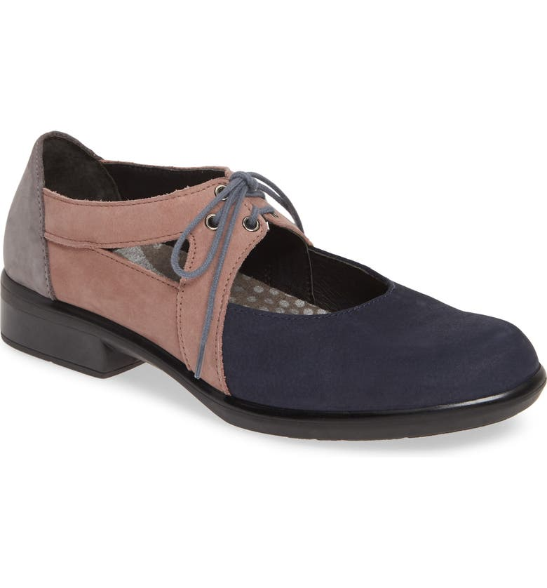 NAOT Alisio Lace-Up Shoe, Main, color, NAVY/ MAUVE/ SMOKE NUBUCK
