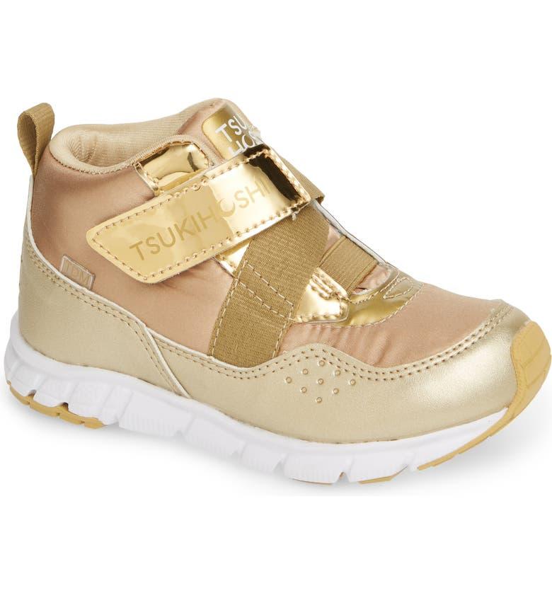 TSUKIHOSHI Tokyo Waterproof Sneaker, Main, color, GOLD/ HONEY