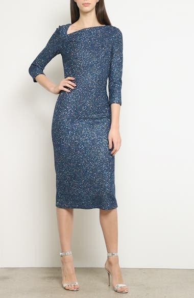 Luxe Sequin Tuck Knit Dress, video thumbnail
