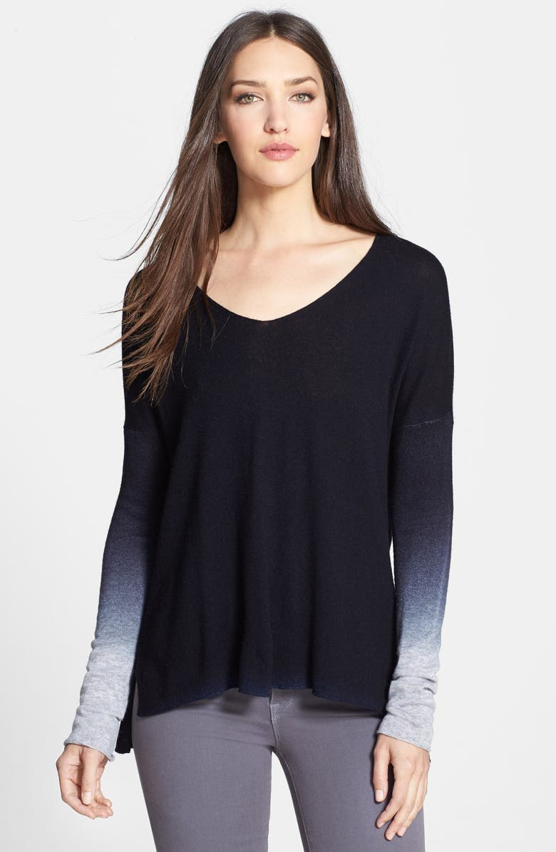 VINCE Ombré V-Neck Sweater, Main, color, 406