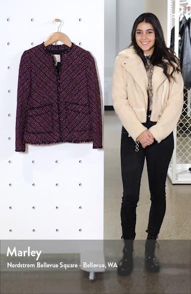 Fringe Detail Cotton & Wool Tweed Jacket, sales video thumbnail