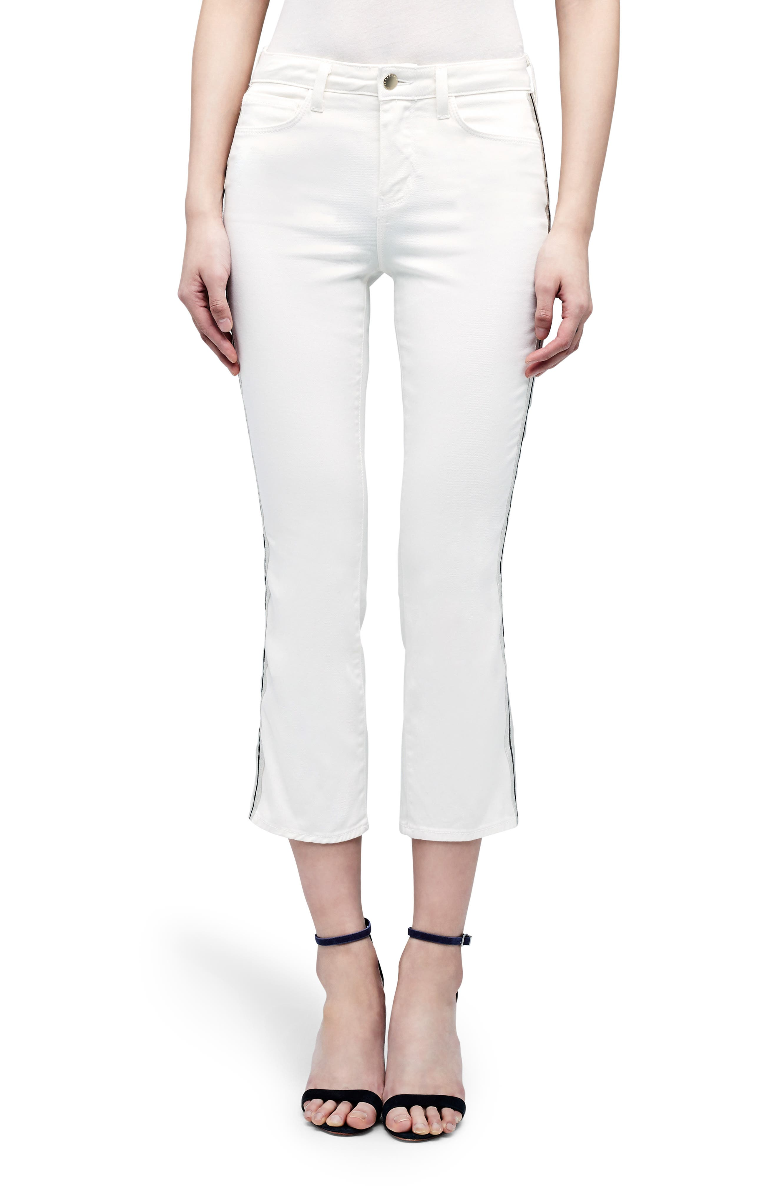 Image of L'AGENCE Nadia Side Tape High Waist Crop Jeans