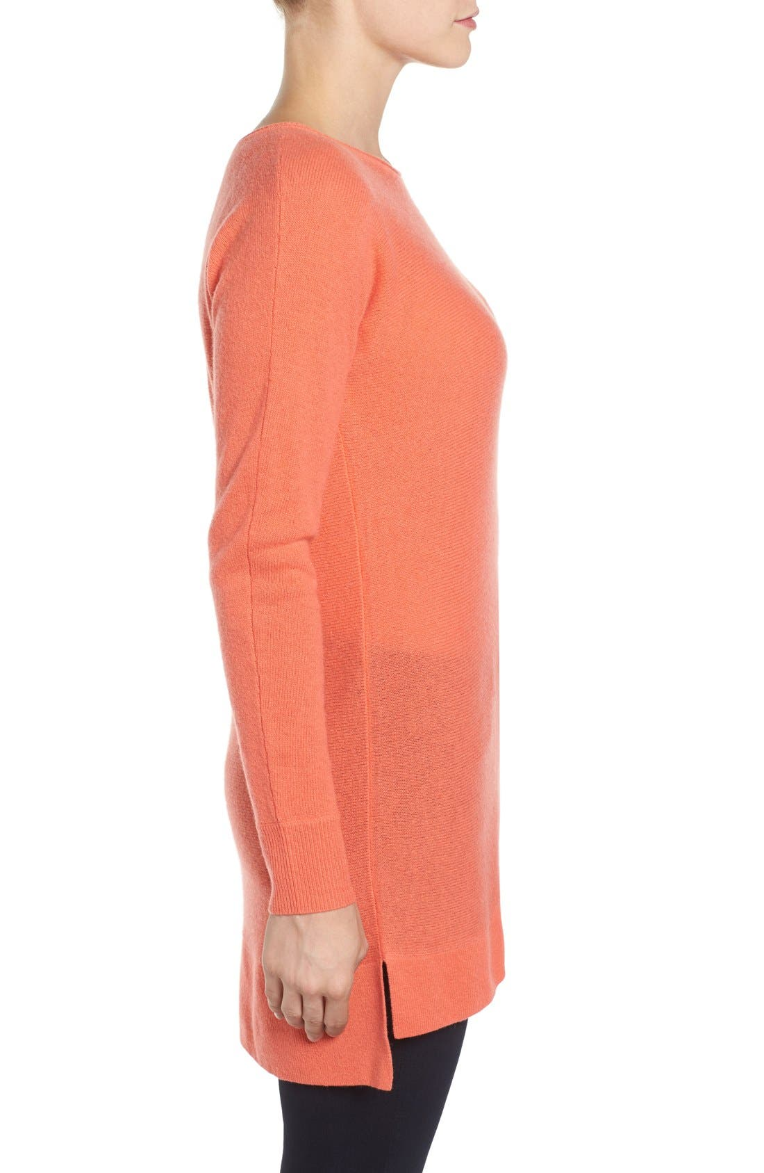 ,                             High/Low Wool & Cashmere Tunic Sweater,                             Alternate thumbnail 166, color,                             958