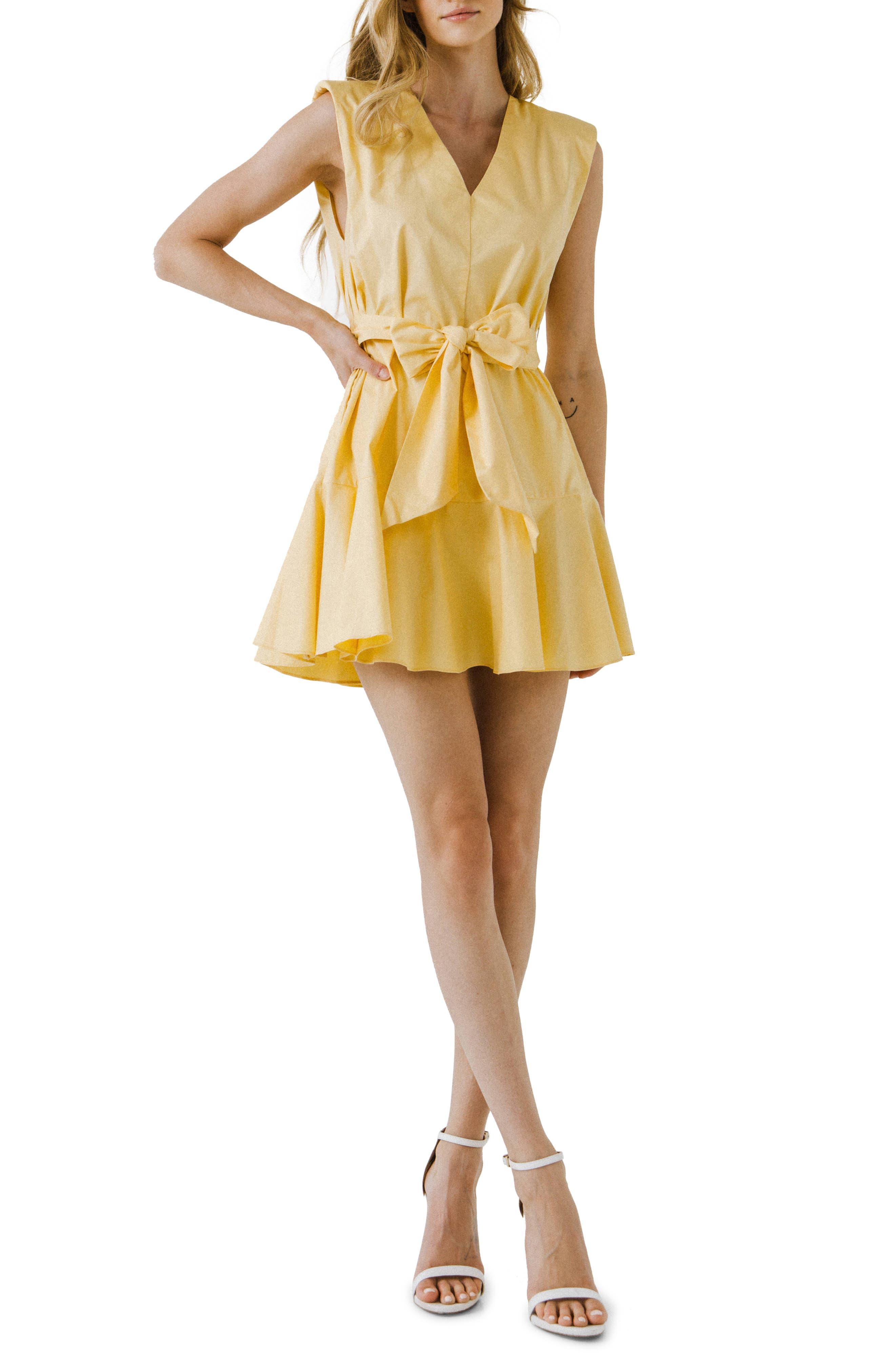Sleeveless Tie Waist Minidress