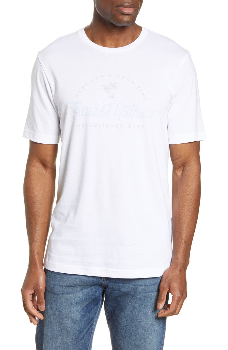 TRAVISMATHEW Food Chain Graphic Tee, Main, color, WHITE