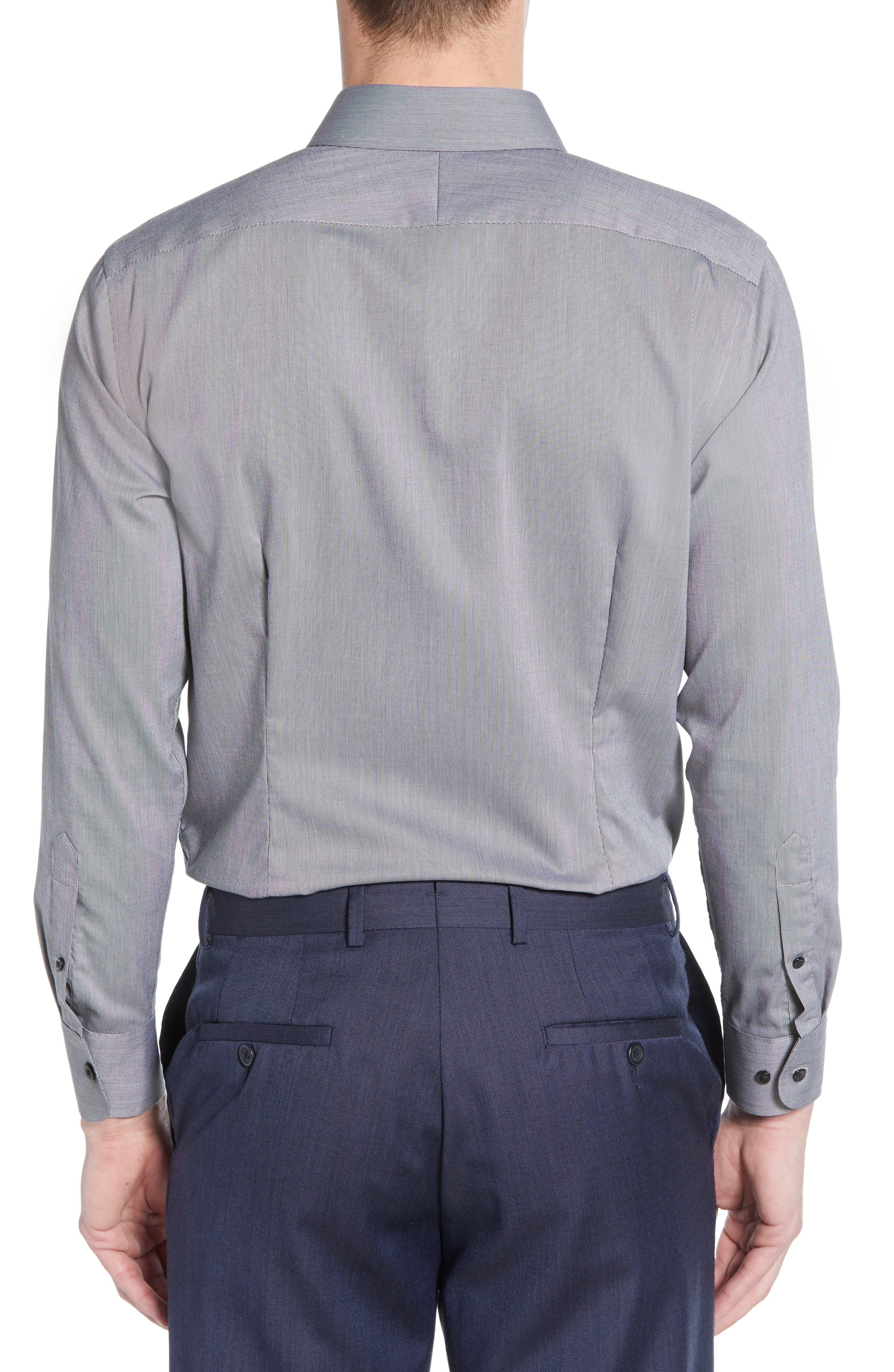 ,                             Extra Trim Fit Non-Iron Solid Dress Shirt,                             Alternate thumbnail 9, color,                             030
