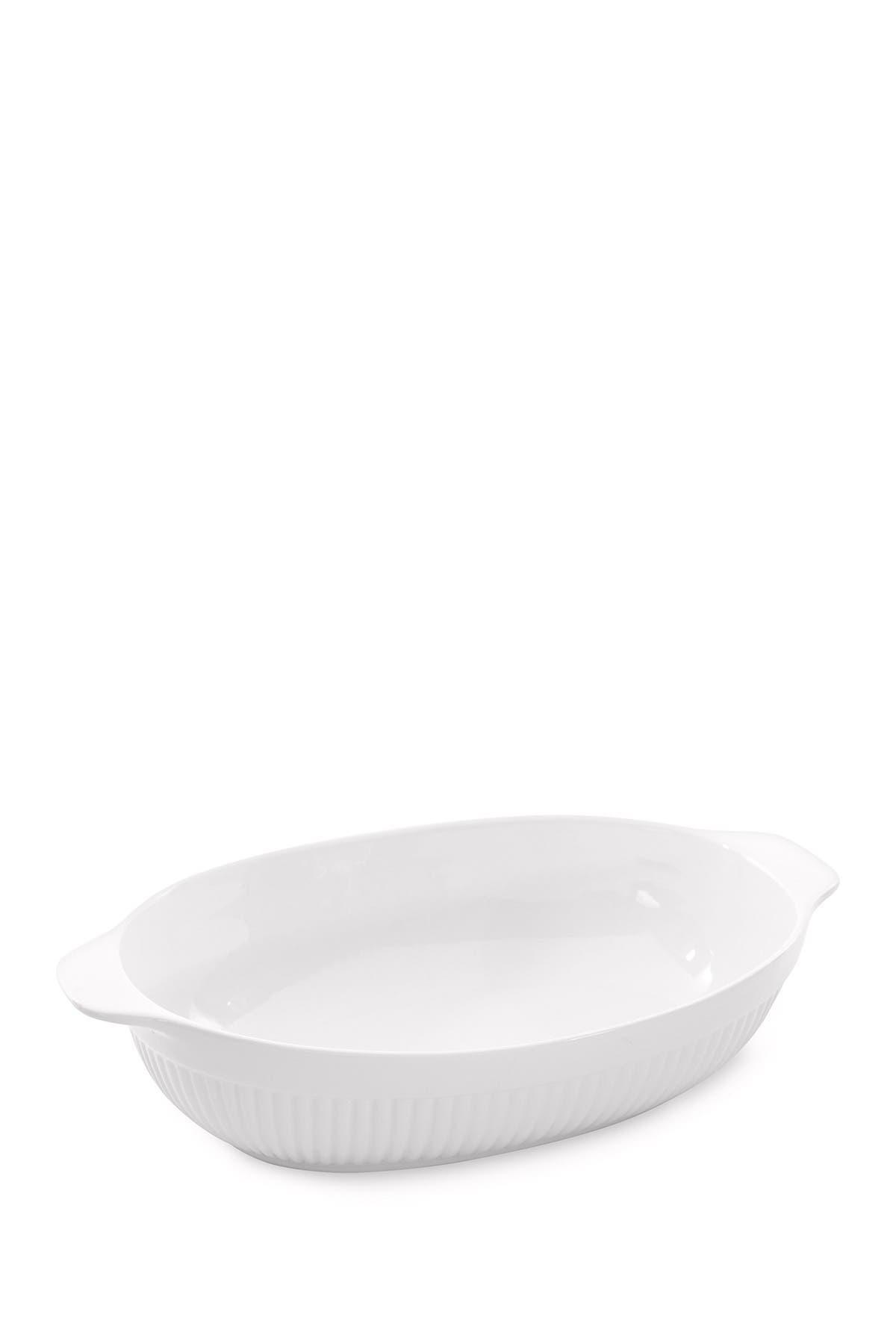 "Image of BergHOFF Bianco 11"" Oval Baking Dish"