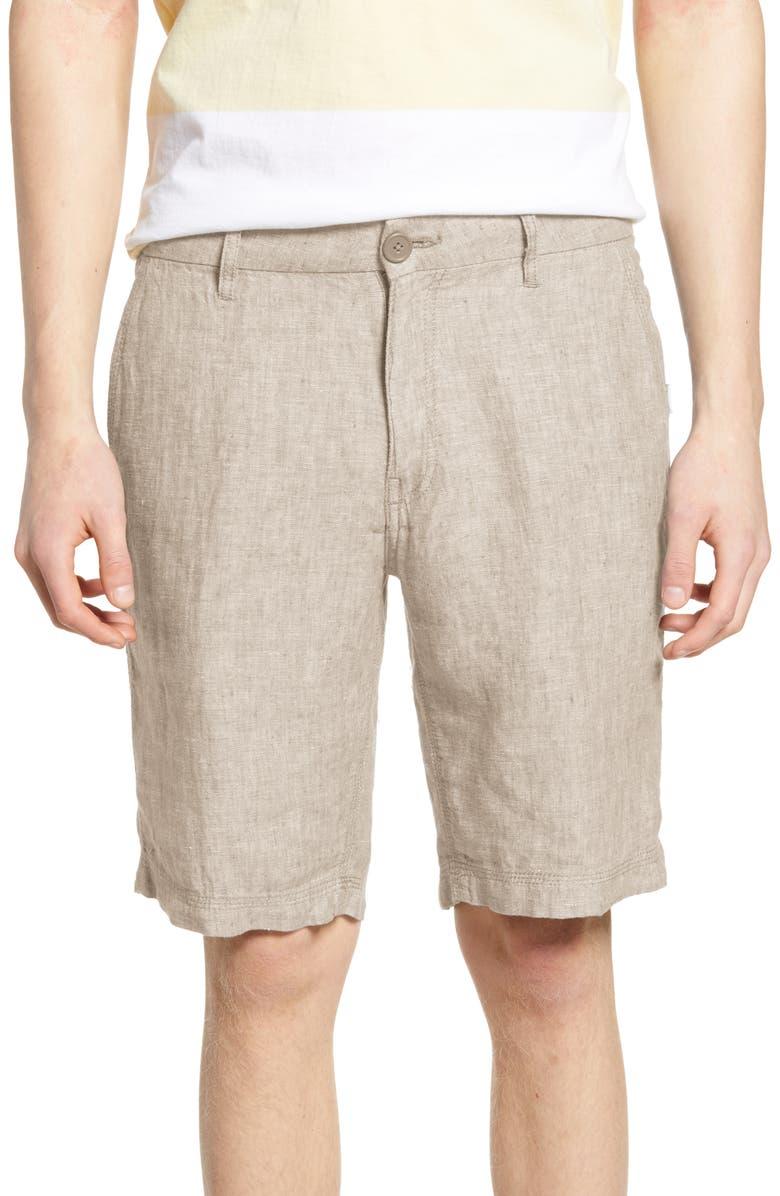 ONIA Austin Linen Shorts, Main, color, 250