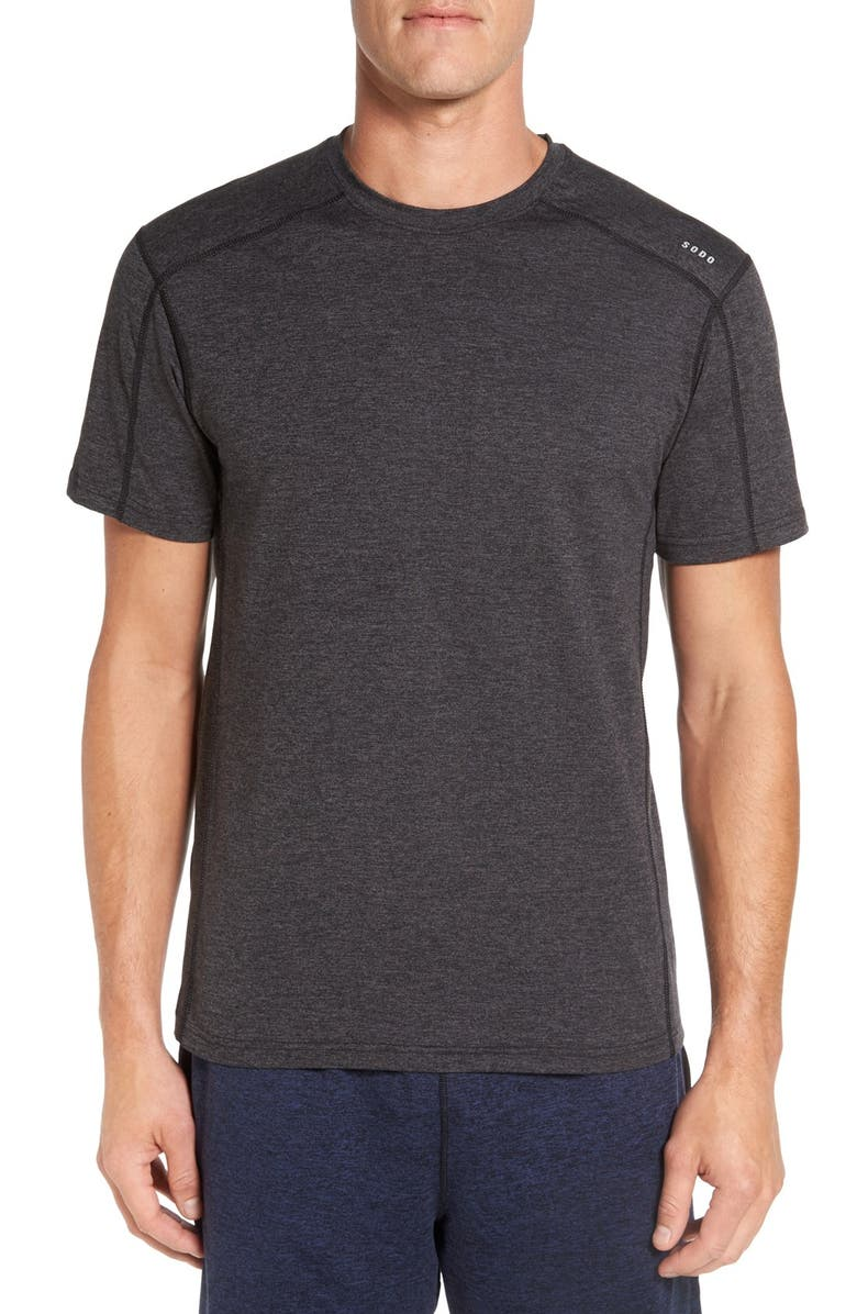 SODO 'Cooldown' Moisture Wicking Training T-Shirt, Main, color, CHARCOAL/ BLACK