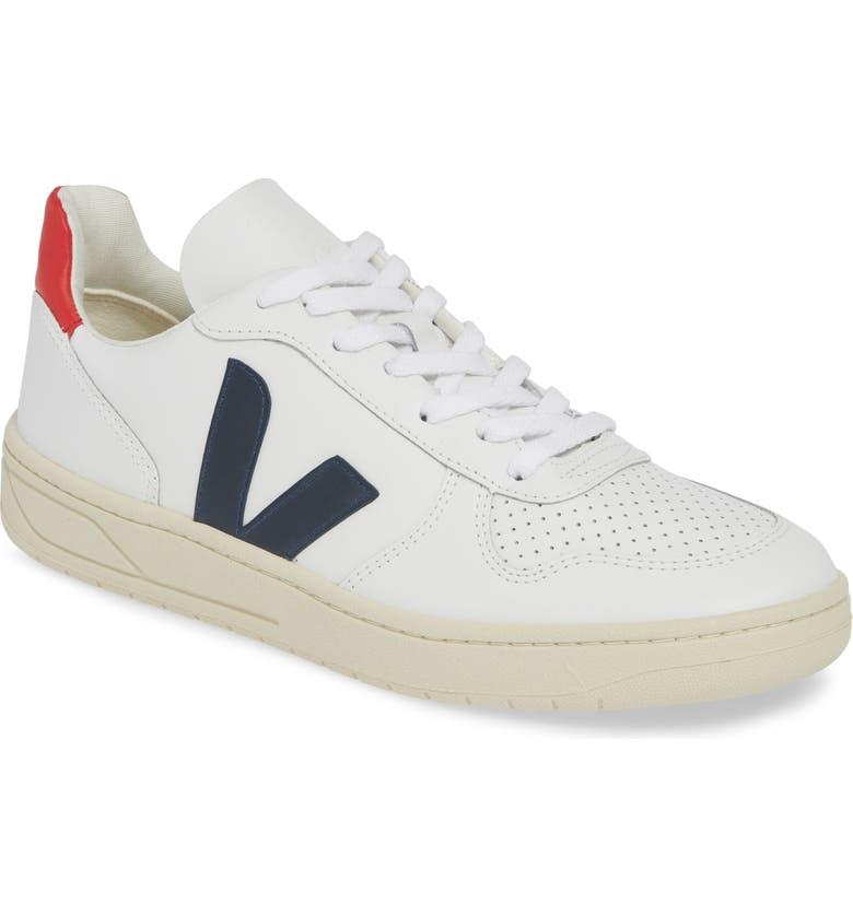 VEJA V-10 Sneaker, Main, color, EXTRA WHITE LEATHER