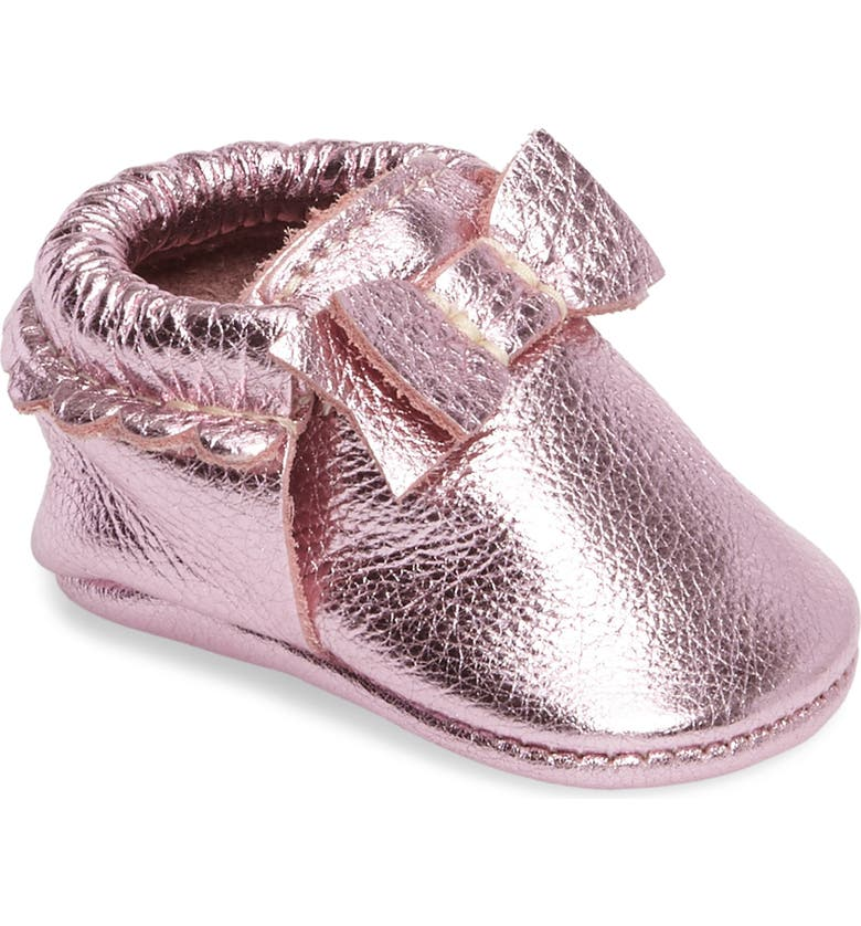 FRESHLY PICKED Metallic Bow Moccasin, Main, color, 650
