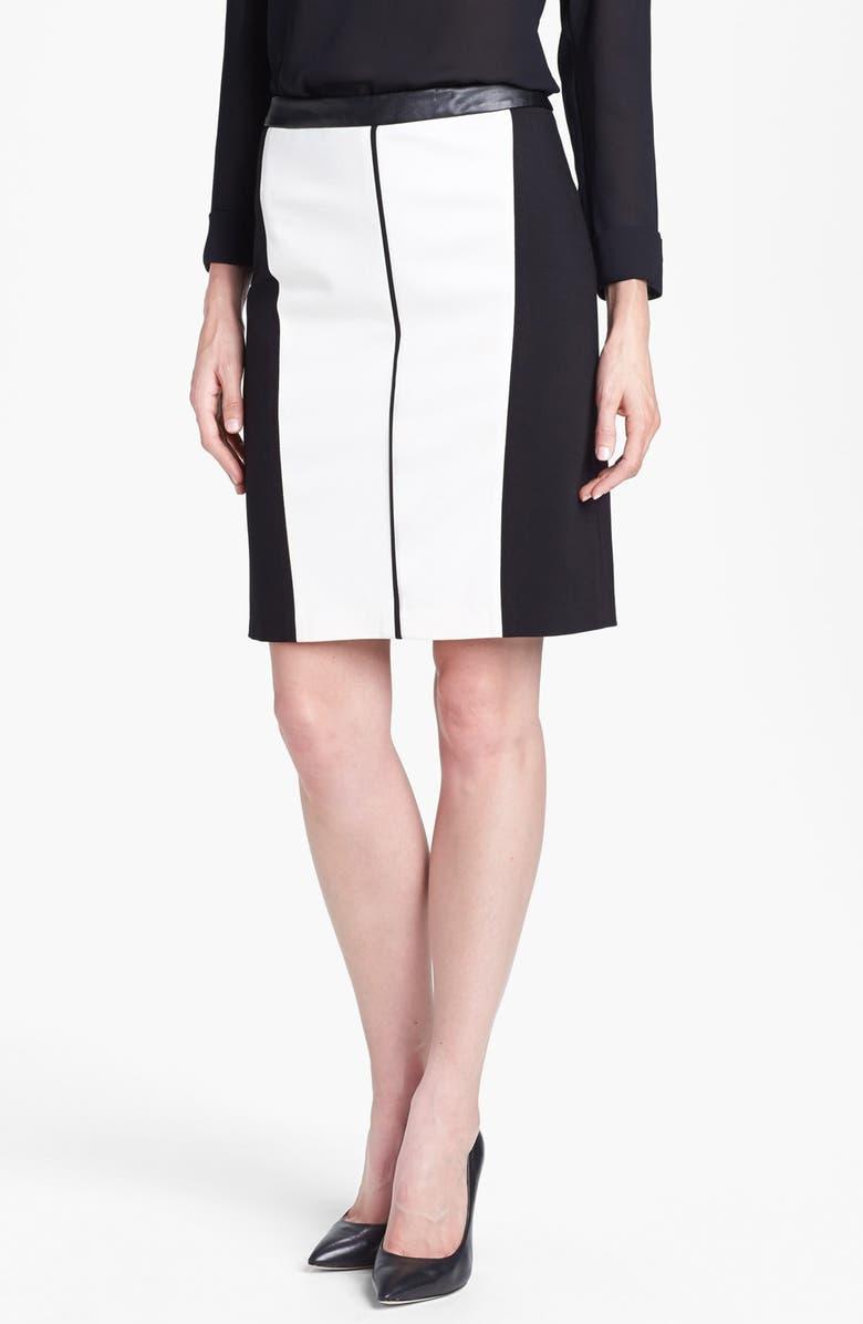 CHAUS Colorblock Ponte Skirt, Main, color, 900