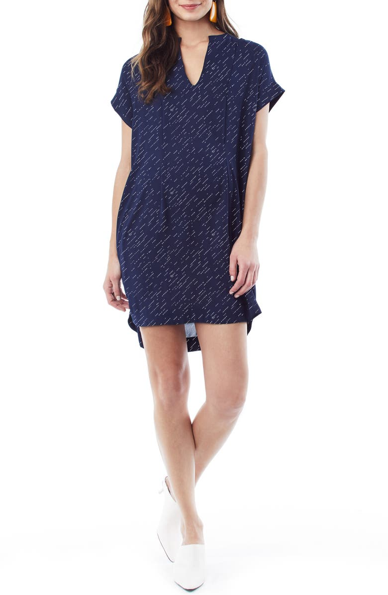 LOYAL HANA Cybelle Maternity/Nursing Shirtdress, Main, color, NAVY STRIPE