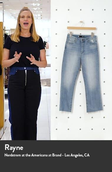 Kelsey High Waist Raw Hem Kick Flare Jeans, sales video thumbnail