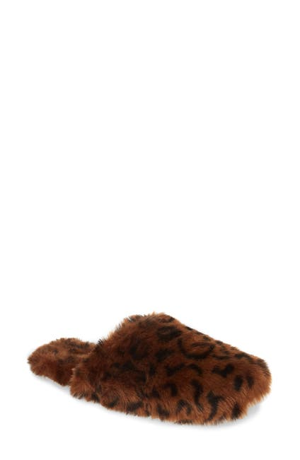 Image of Madewell Animal Print Faux Fur Slipper