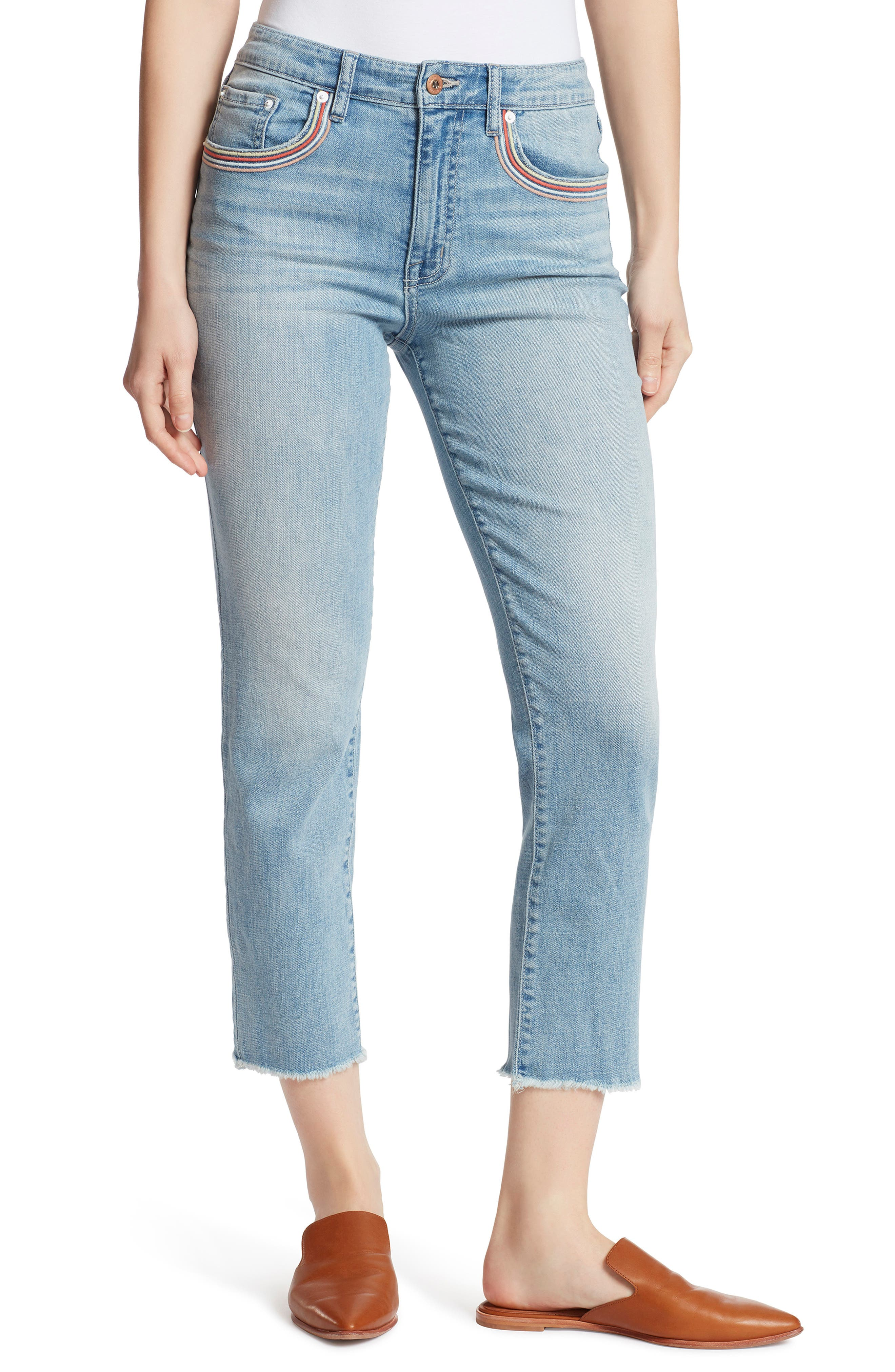 Ella Moss HIGH RISE SLIM STRAIGHT CROPPED JEANS