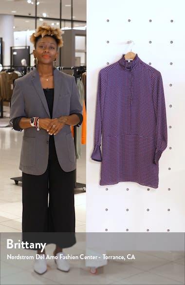 Prynn Ruffle Neck Long Sleeve Shirtdress, sales video thumbnail
