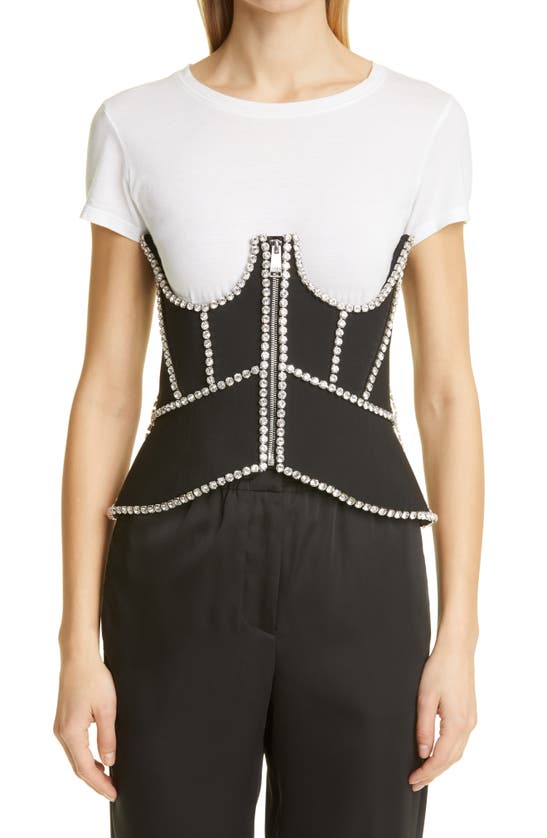 Area CRYSTAL STITCHED CUTOUT CORSET