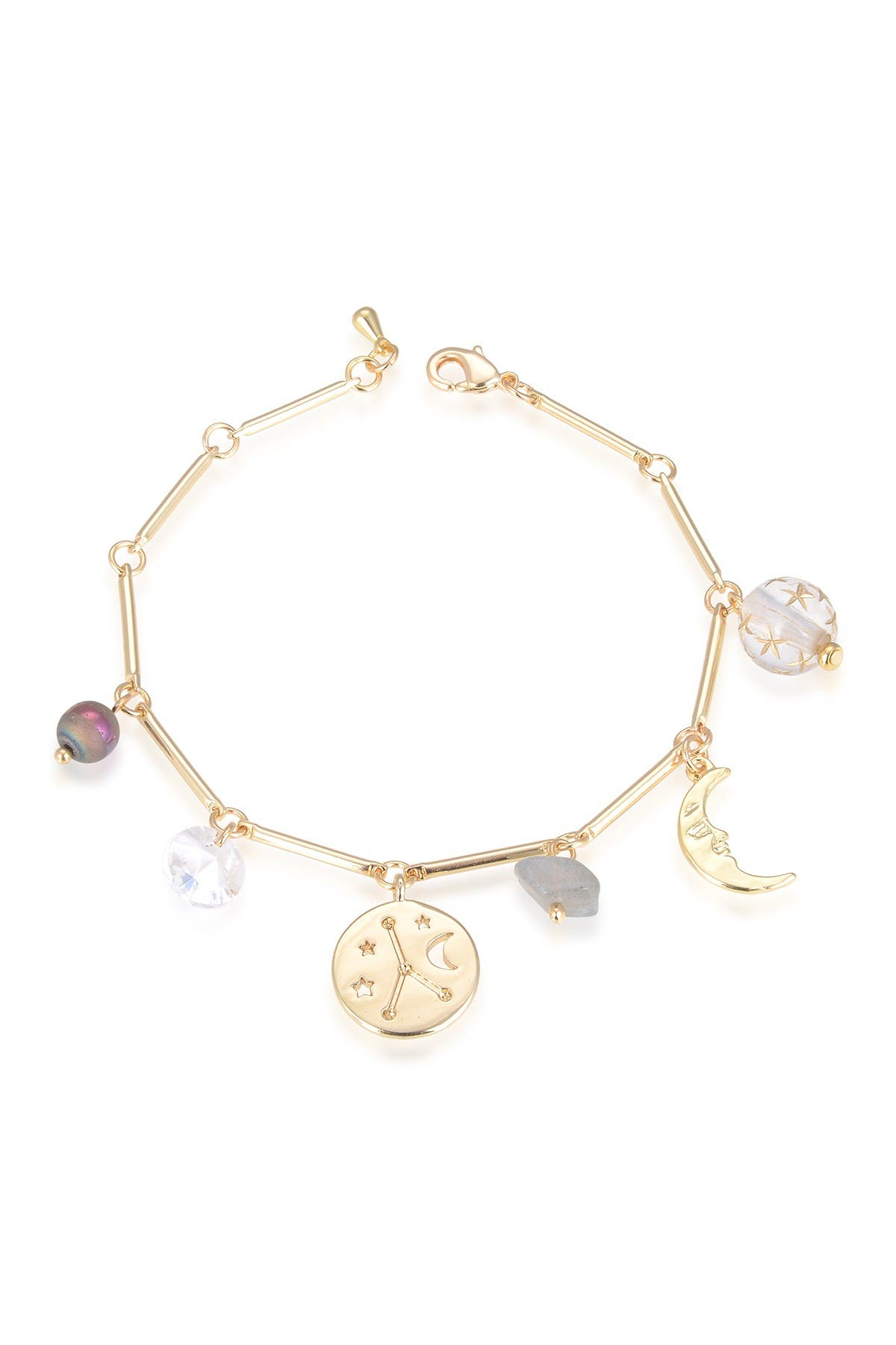 Eye Candy Los Angeles Cancer Natural Stone Charm Bracelet at Nordstrom Rack