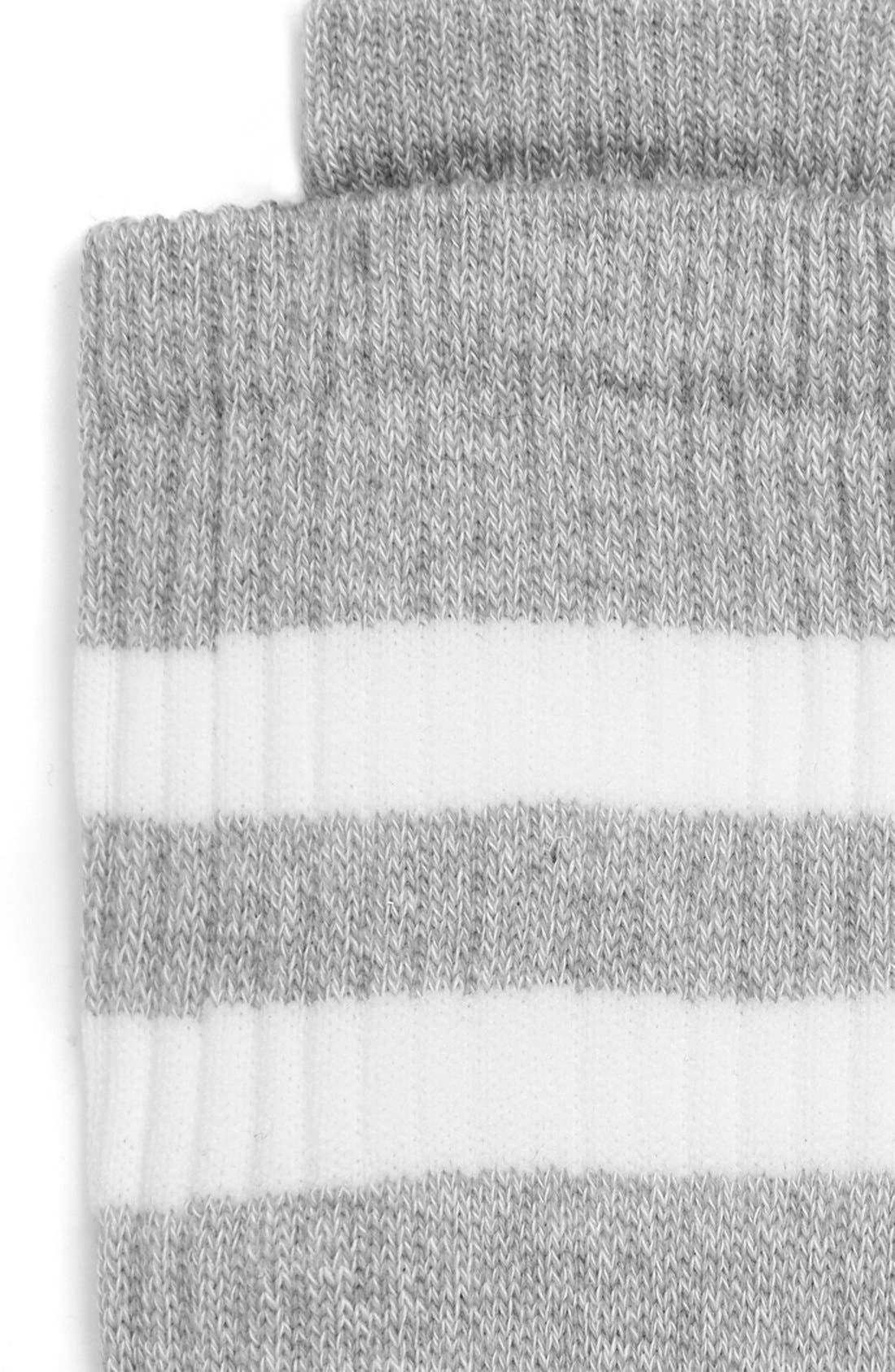 ,                             Stripe Crew Socks,                             Alternate thumbnail 4, color,                             020