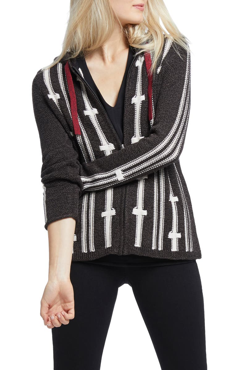 NIC+ZOE New Tracks Hoodie Cardigan, Main, color, 006