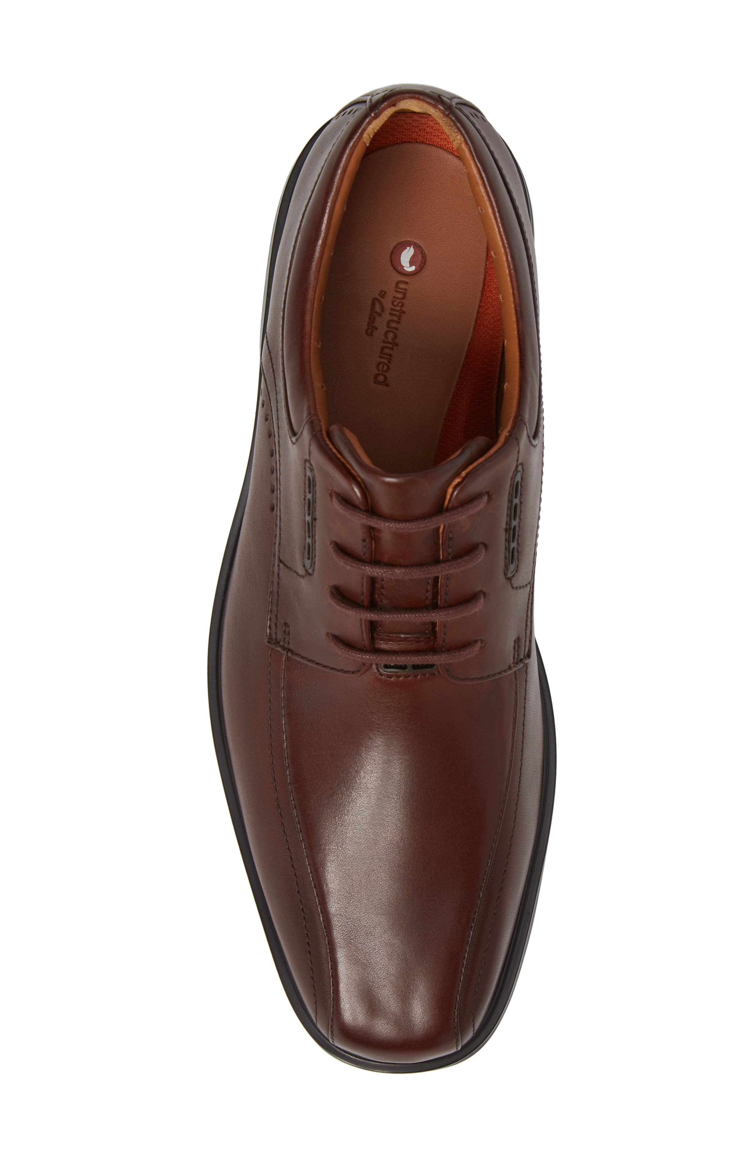 ,                             Un.Kenneth Bike Toe Oxford,                             Alternate thumbnail 5, color,                             BROWN LEATHER